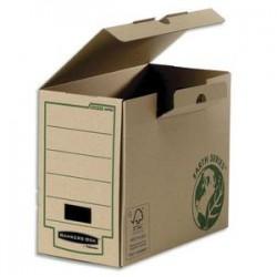 BANKERS BOX Boîte archives dos de 20 cm EARTH SERIES. Montage manuel, en carton kraft
