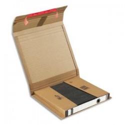 COLOMPAC Boîte d'expédition pour classeur hauteur variable, double fermeture adhésive 29 x 3,5/8 x 32 cm