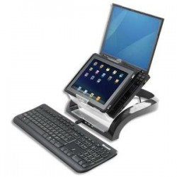 FELLOWES Support ordinateur portable + support tablette Smart Suite Plus Multimédia 8024801