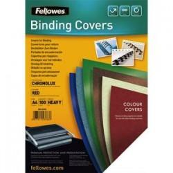 FELLOWES Boîte de 100 plats de couvertures chromolux A4 rouge 5378303