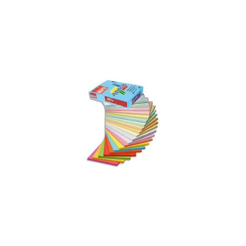 PAPYRUS Ramette 500 feuilles papier couleur pastel ADAGIO canari pastel A3 80g