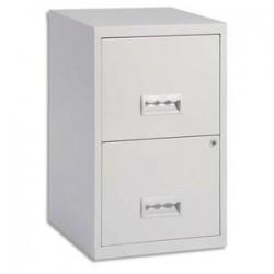 PIERRE HENRY Classeur pour dossiers suspendus 2 tiroirs - Dimensions : L40 x H66 x P40 cm gris