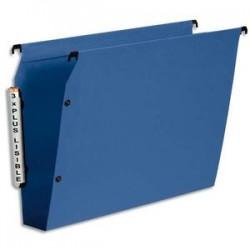 ESSELTE Paquet de 10 dossiers suspendus ARMOIRE en polypro opaque. Fond 50, bouton-pression. Bleu