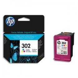 HP pack de 3 cartouches jet d'encre couleurs 302XL F6U67AE