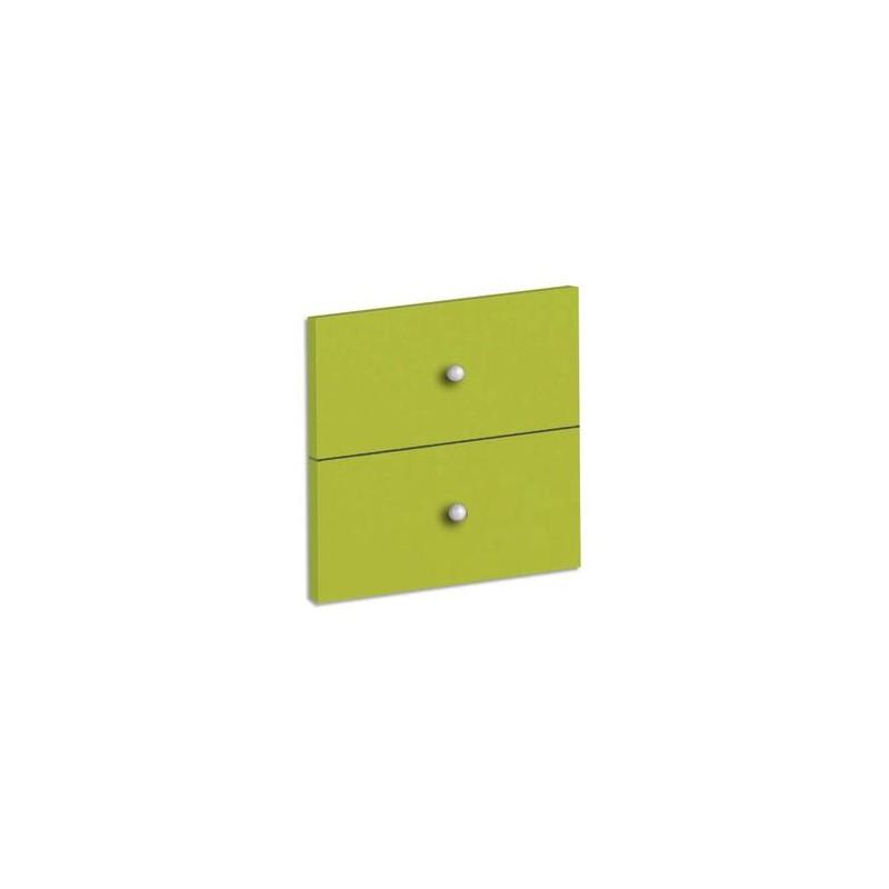 MT INTERNATIONAL Lot de 2 tiroirs + fonds pour multi-cases MT1 Elégance Dim. L32,5 x H16,5 x P1,6 cm vert