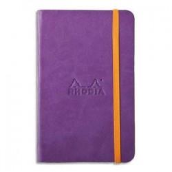 RHODIA Carnet RHODIArama 9x14cm 192 pages lignées. Couverture rembordée violet