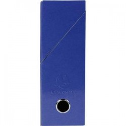 EXACOMPTA Boîte de transfert Iderama, carte lustrée pelliculée, dos 9,5 cm, 34x26 cm, coloris bleu foncé