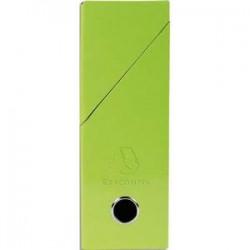 EXACOMPTA Boîte de transfert Iderama, carte lustrée pelliculée, dos 9,5 cm, 34x26 cm, coloris vert