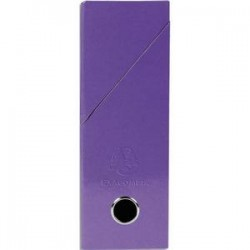 EXACOMPTA Boîte de transfert Iderama, carte lustrée pelliculée, dos 9,5 cm, 34x26 cm, coloris violet