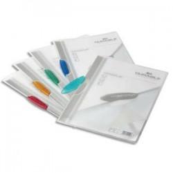 DURABLE Chemise de présentation à clip bleu SWINGCLIP, couverture semi-transparente,capacité 30 feuilles