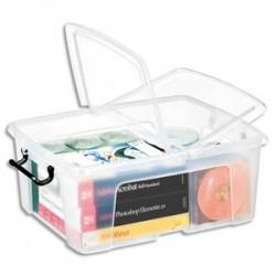 CEP Boîte de rangement Smart Box Strata avec couvercle clipsé dims int.317x40,2x17,5cm transparent 24L