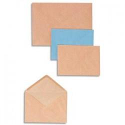 GPV Boîte de 500 enveloppes coloris bleu gommées 72 grammes format 114x162 C6