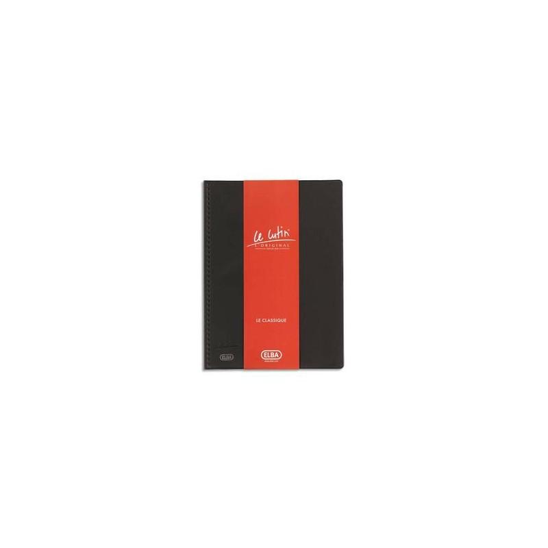 ELBA Protège-documents 80 vues noir Le Lutin , couverture PVC 34/100e, pochettes PVC 5,5/100e