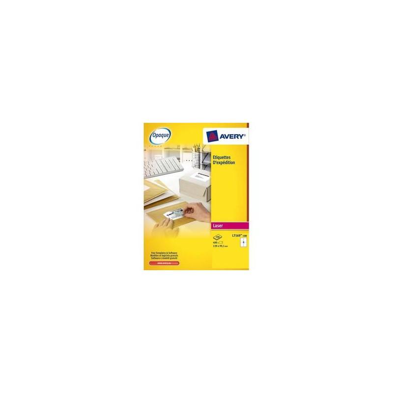 AVERY Boîte de 600 étiquettes laser blanc 99,1X93,1mm L7166-100