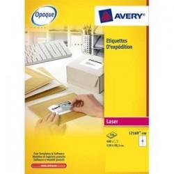 AVERY Boîte de 100 étiquettes laser blanc 199,6X289,1mm L7167-100