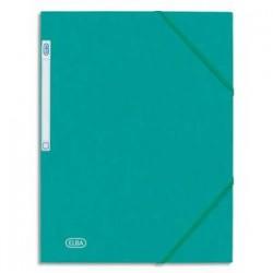 ELBA Chemise 3 rabats et élastique Eurofolio , en carte lustrée 5/10e vert