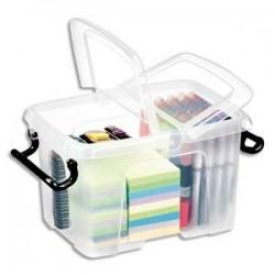 CEP Boîte de rangement Smart Box Strata avec couvercle clipsé dims int.15,7x22,1x15,5cm transparent 6L