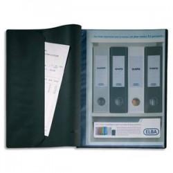 ELBA Protège-documents 20 vues noir Le Lutin , couv. PVC 34/100e, pochettes en PVC 5,5/100e