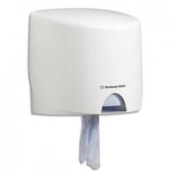 AQUARIUS Kit Distributeur Roll Control + 1 Bobine d'essuyage mains et surfaces Wypall 525 formats blanche