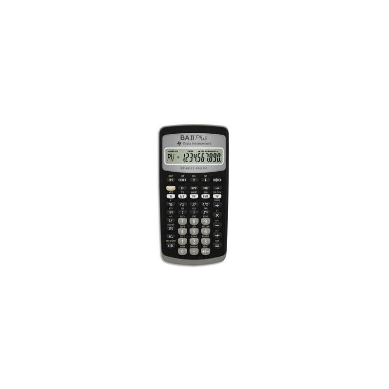 TEXAS INSTRUMENTS Calculatrice financière 10 chiffres, memoire 10mo, comptabilité gestion BA-II-PLUS