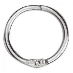 NEUTRE Sachet de 10 anneaux brisés en métal , diamètre 30 mm