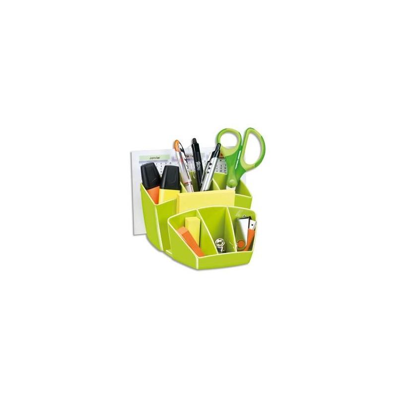 CEP Pro Multipot Gloss 6 compartiments + 2 espace - Dimensions L14,3 x H9,3 x P15,8 cm coloris vert anis