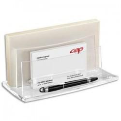 CEP Trieur à enveloppes Acrylight - Dimensions L22,5 x H11 x P10,5 cm coloris cristal