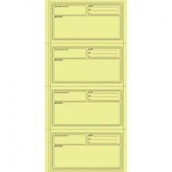 5 ETOILES Carnet pour 140 messages avec reçus détachables sur papier autocopiant