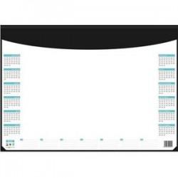 CBG Socle sous-mains en pvc noir avec recharge quadri-perpétuel - format : 40,5 x 5 cm
