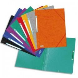 ELBA Chemise simple à élastique 42091 , en carte lustrée 5/10e coloris assortis