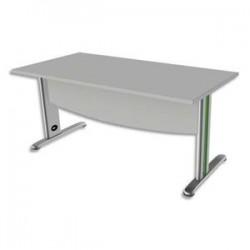 SIMMOB Bureau rectangle avec VDF Scenario tonique - Dim. L80 x H72 x P80 cm coloris Blanc perle Vert anis