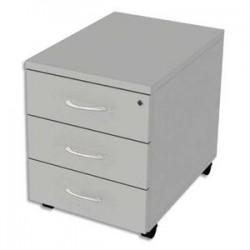 SIMMOB Caisson mobile 3 tiroirs Scénario Tonic - Dimensions : L43 x H56 x P60 cm Blanc perle