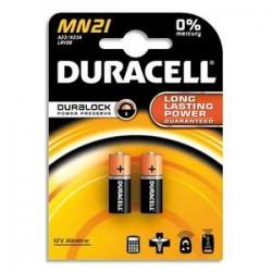 DURACELL Blister de 2 piles MN21 Alcalines Duralock pour alarmes et télécommandes 5000394203969