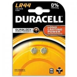 DURACELL Blister de 2 piles Alcalines LR44 Duralock pour appareils électroniques 5000394504424