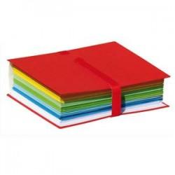ELBA Chemise extensible Color Life papier toilé. Fermeture par sangle velcro. Coloris Rouge