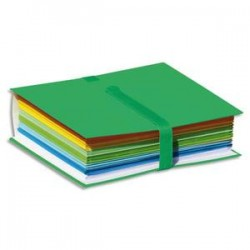 ELBA Chemise extensible Color Life papier toilé. Fermeture par sangle velcro. Coloris Vert foncé