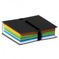 ELBA Chemise extensible Color Life papier toilé. Fermeture par sangle velcro. Coloris Noir