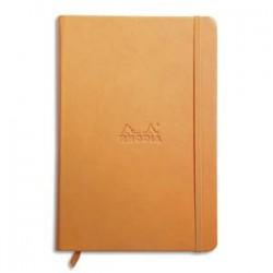 RHODIA Carnet RHODIArama 14,8x21cm 192 pages lignées. Couverture rembordée orange