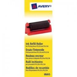 """AVERY Boîte de 5 rouleaux encreur noir pour pince à étiqueter Avery """"PL1/8"""" et """"PL2/18"""" IRAV5"""