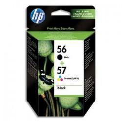 HP Combo pack 56/57 jet d'encre noir et couleur SA342AE
