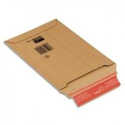 COLOMPAC Pochette d'expédition rigide en carton brun - Format : 25 x 34 cm, hauteur 5 cm