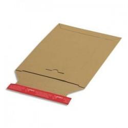 COLOMPAC Pochette d'expédition en carton brun A4+, format 24,5 x 34,5 cm, hauteur jusque 3 cm