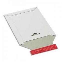COLOMPAC Pochette d'expédition en carton blanc A4+, format 24,5 x 34,5 cm, hauteur jusque 3 cm