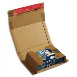 COLOMPAC Etui d'expédition rigide en carton brun - Format A5 : 21,7 x 15,5 cm, hauteur 6 cm