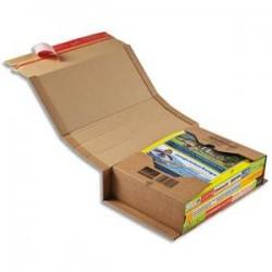 COLOMPAC Etui d'expédition rigide en carton brun - Format A4 : 30,2 x 21,5cm, hauteur 8 cm