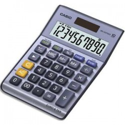 CASIO Calculatrice de bureau 10 chiffres conversion euro MS100TER II