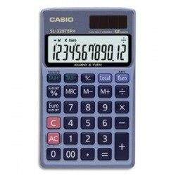 CASIO Calculatrice de poche 12 chiffres conversion euro SL320TER