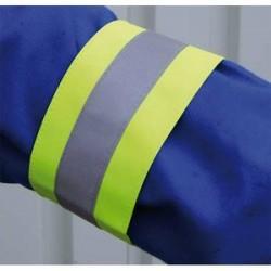 VISO Brassards de sécurité - L48 x H7,5 cm, réflecteur de 3 cm coloris jaune