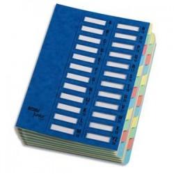 EMEY Trieur EMEY JUNIOR en carte, 24 compartiments. Coloris bleu.