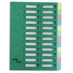 EMEY Trieur EMEY JUNIOR en carte, 24 compartiments. Coloris vert.